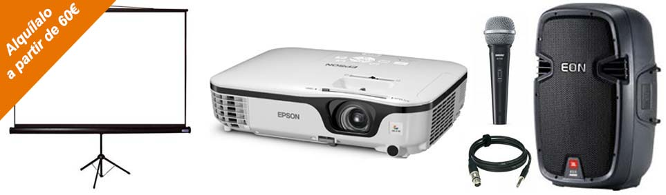 projector rental in Mallorca