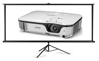 Projector with screen rental